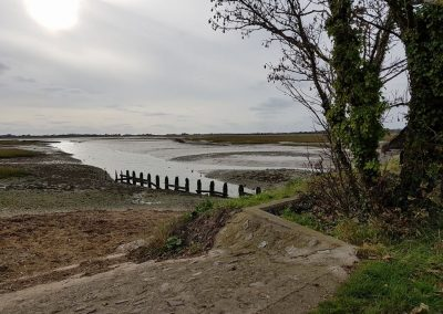 Pagham harbour wall